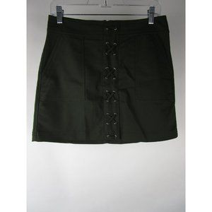 Express Knit Lace Up Pockets Short A-Line Skirt